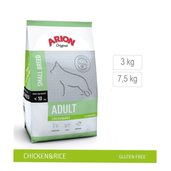 Arion-hundefoder-aduult-small-Breed-chicken-&-rice