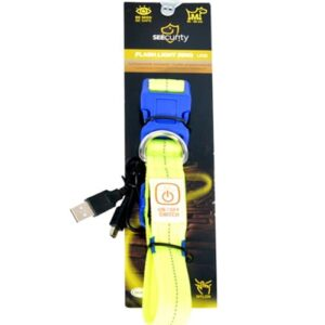 Collar Nylon USB Flash Light - lyshalsbånd -